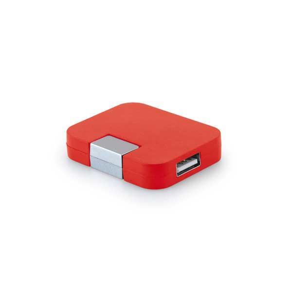 hub-usb-rouge