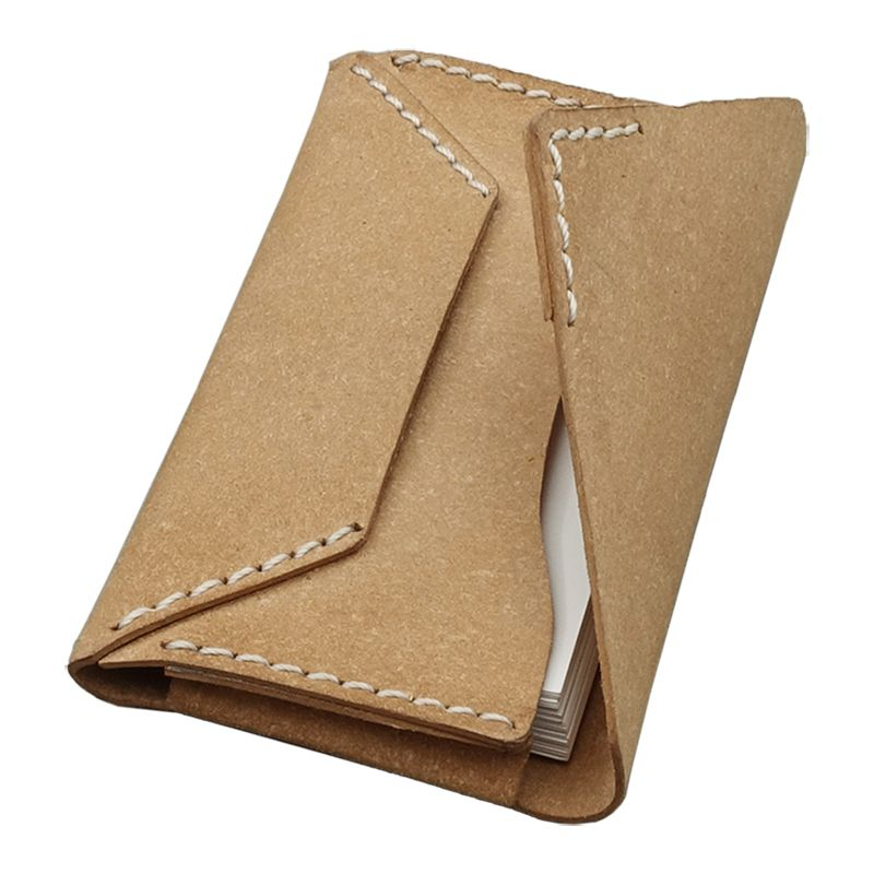 Porte-cartes en cuir surpiqué